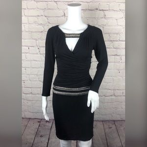 Cache Studded Little Black Dress